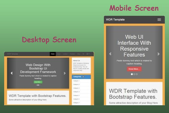 Responsive Web Template Using Bootstrap Tutorial